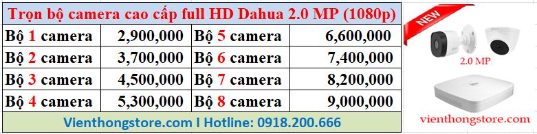 Bộ Camera Dahua cao cấp Full HD