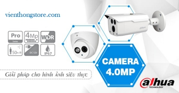 Lắp camera Dahua 4.0 Megapixel