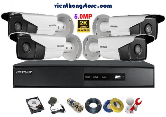 Lắp gói camera hikvision 5.0MP