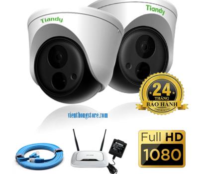 Bộ trọn giói camera Tiandy cao cấp hình ảnh full HD 1080P